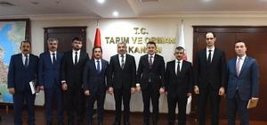 Başkan Çelik Tarım ve Orman Bakanı Pakdemirli ile görüştü