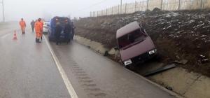 Yoldan çıkan otomobil şarampole devrildi: 2 yaralı