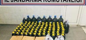 Jandarma bin 120 litre kaçak şarap ele geçirdi