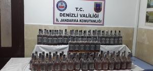 Denizli'de 104 litre kaçak viski ele geçirildi