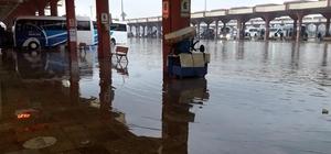 Otogarı su bastı, sürücüler yollarda zor anlar yaşadı Adana'da sağanak yağışlar kent genelinde su baskınlarına neden oldu