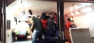 Bingöl'de biri bebek 2 hasta paletli ambulanslarla kurtarıldı