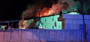 Hastane çatısında çıkan yangın güçlükle kontrol altına alındı