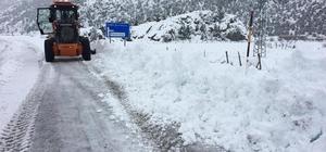 Derebucak'ta kar yağışı hayatı olumsuz etkiliyor