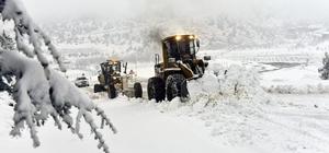 Kar timleri Toroslarda karla boğuşuyor Adana'nın 7 ilçesinde yolların ulaşıma açılması için kar timleri çalışıyor