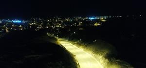 İncesu'da sıcak asfalt, yol çizgisi ve aydınlatma çalışmaları tamamlandı