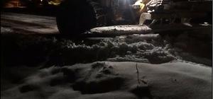 Yağan kar sonrası kapanan köy yolları ulaşıma açıldı