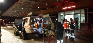 Yol kapanınca hastaya karpalet ambulansla ulaştılar