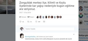 Zonguldak'ta okullar bir gün tatil edildi