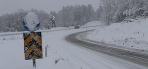 Zonguldak'ta 80 köy yolu ulaşıma kapandı Kar yağışı nedeniyle ulaşıma kapanan 80 köy yolu için ekiplerin çalışmaları sürüyor