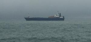 Yük gemileri şiddetli rüzgarda beşik gibi sallandı