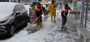 Sungurlu Belediyesi'nden kar ile mücadelede özel solüsyon