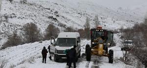Karda mahsur kalan öğrencilerin yardımına ASKİ ekipleri koştu
