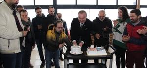Gazetecilerden Şahiner'e sürpriz doğum günü kutlaması