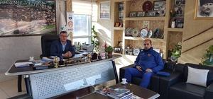 Başkan Duymuş, Karakol Komutanu Şafak ile bir araya geldi