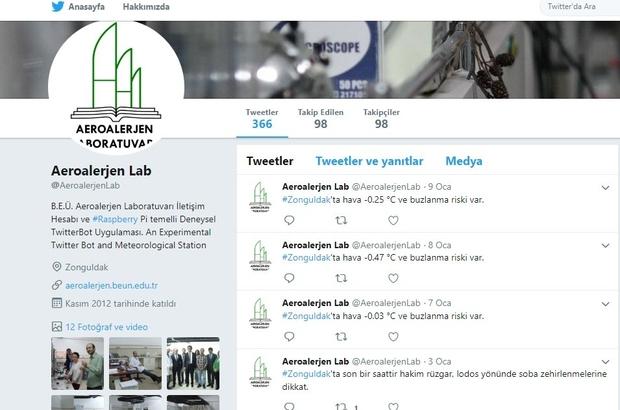 Zonguldak'ın hava durumu 'Aeroalerjen Laboratuvarı Meteorolji İstasyonu' ile ölçülüyor
