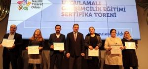 Nazilli Ticaret Odasında sertifika ve ödül töreni düzenlendi