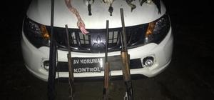 Milli parkta kaçak avlanan 5 kişi yakalandı