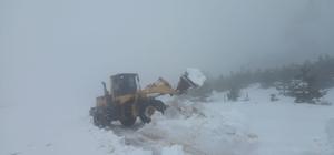 Madran Dağı'nda mahsur kalan 5 işçi kurtarıldı