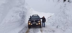 Zirveye kar tünellerin arasından ulaştılar DOSOD'dan 3 buçuk metre karda offroad keyfi