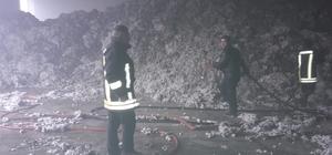Çırçır fabrikasında çıkan yangın korkuttu
