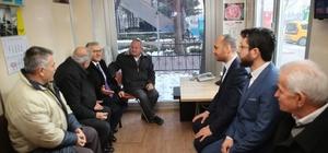Başkan Büyükkılıç, taksici esnafını ziyaret etti
