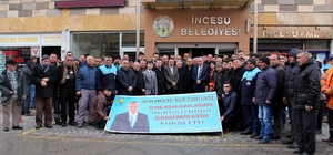 Başkan Karayol belediye önünde coşkuyla karşılandı