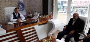 Lütfullah Cebeci'den Başkan Cabbar'a ziyaret