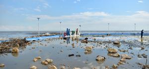Mersin'de fırtınanın etkili olduğu bölgelerde inceleme