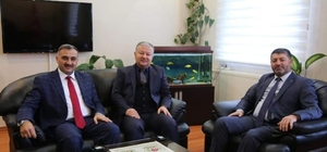 Başkan Cabbar, Kaymakam Duru'yu ziyaret etti