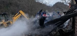 Kastamonu'da yangında enkaz altında kalan yaşlı kadının kemik parçaları bulundu