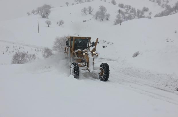 Bingöl'de 182 köy yolu açıldı, 99'unda çalışma sürüyor