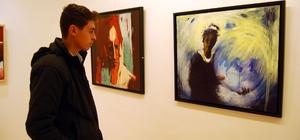 Ressam Murat Oğuz'un sergisi SANKO Sanat galerisi'ndeki sergi 24 Şubat'a kadar gezilebilecek