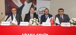 Adana'da kardiyoloji konferansı Sağlık Bilimleri Üniversitesi tarafından Adana Şehir Eğitim ve Araştırma Hastanesi'nde gerçekleştirilen konferansın, online canlı yayınla Türkiye genelindeki tüm eğitim ve araştırma hastanelerinden izlenmesi sağlandı