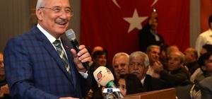 """Kocamaz: """"58 ayı sağlık, huzur ve barış içerisinde geçirdik"""" Mersin Büyükşehir Belediye Başkanı Burhanettin Kocamaz, kentteki muhtarlarla bir araya geldi"""