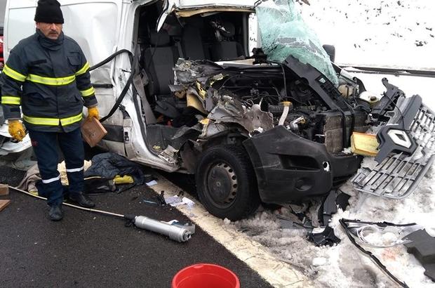 Bolu'da trafik kazası: 1 ölü, 1 yaralı