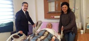 Başkan Ataç'tan hastalara ziyaret