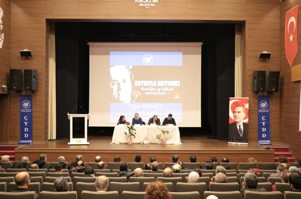 Merhum Gazeteci Uğur Mumcu için memleketi Kırşehir'de panel