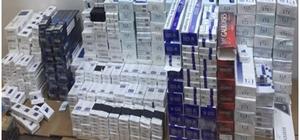 Mersin'de kaçak sigara ve uyuşturucu operasyonu