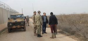 Kaymakam Duman Sınır birliklerinde incelemelerde bulundu