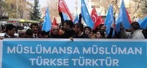 Malatya'da 'Doğu Türkistan'a destek' yürüyüşü