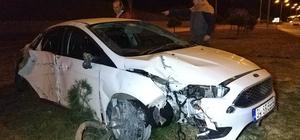 Önüne köpek çıkan otomobil 25 metre takla attı: 1 yaralı Emniyet kemeri takılı olan sürücü ölümden döndü
