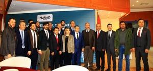 Muğla MÜSİAD'da bayrak değişimi Müstakil Sanayici ve İşadamları Derneği (MÜSİAD) Muğla Şubesi'nin 4'üncü genel kurulunda mevcut başkan Sezgin Bayhan görevi Kazım Demir'e devretti.