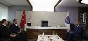 Milli Savunma Bakanı Hulusi Akar, Başkan Çelik'i ziyaret etti