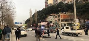 Bursa-İstanbul karayolundaki feci kaza kamerada Otomobilin çarpması sonucu metrelerce fırlayan yaya ağır yaralandı