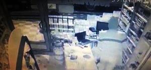 Çalıntı otomobil ile büfe soydular Soygun anbean güvenlik kameralarına yansıdı