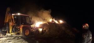 Besi çiftliğindeki yangın korkuttu