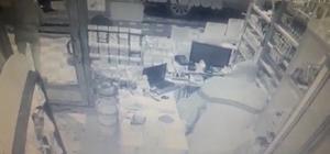 Alarm çaldı, büfeye giren hırsızlar kaçtı