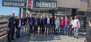 Başkan adayı Günel, Kuşadası Beşiktaşlılar Derneği'ni ziyaret etti