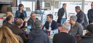 CHP'nin Kuşadası adayı Ömel Günel sanayi esnafını dinledi